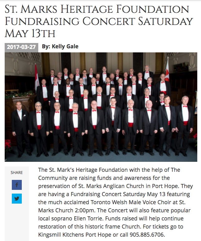 Concert poster 13May2017 St. Mark's
