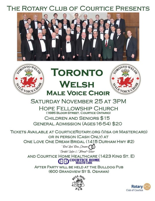 Concert Poster 25Nov17 - Courtice Rotary Club
