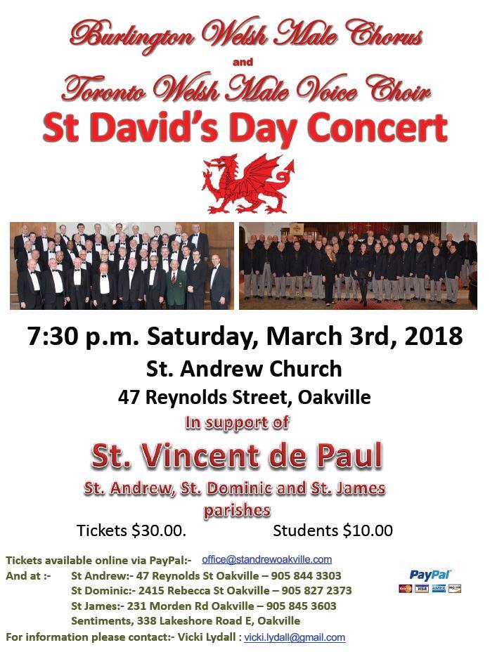 concert poster - st davids day 2018