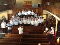 Practising before the concert in Pontygwaith.jpg