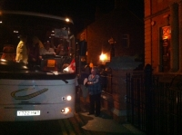 following Rhos concert, twmvc group boards the coach at midnight.JPG